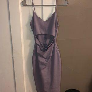 Light purple midi dress